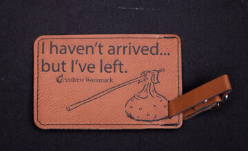Rawhide Luggage Tag - I Haven