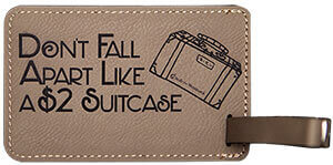 Light Brown Luggage Tag - Don