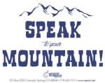 Speak To Your Mountain Sticker